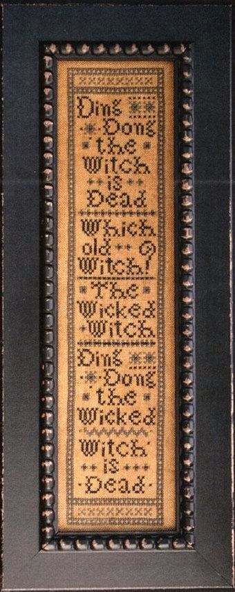 Ding Dong The Witch Is Dead cross stitch pattern at thecottageneedle.com