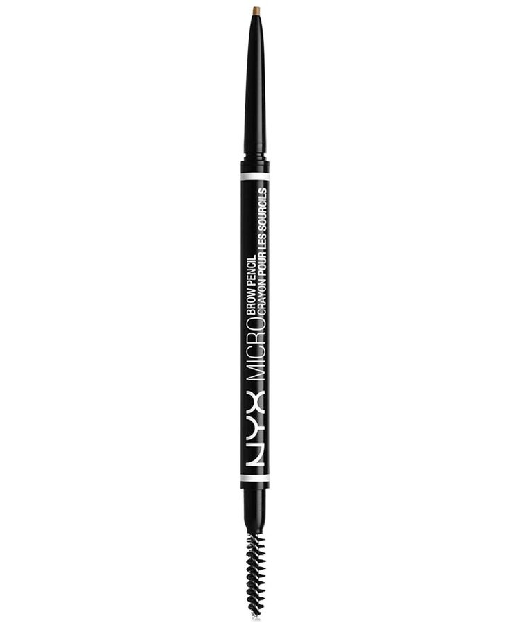 Build full, beautiful brows with our ultra-thin Micro Brow Pencil. So precise it coats even the finest hairs with color for a natural-looking finish. The super-skinny tip draws ultra-fine lines, allow