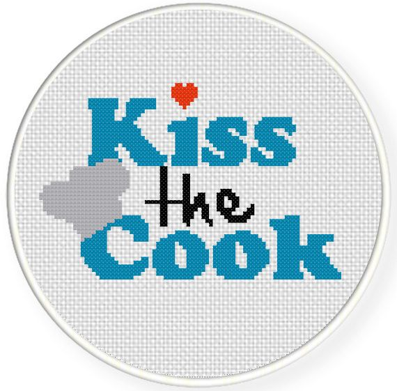 Best 25 kiss the cook ideas on pinterest holiday events for Cross stitch kitchen designs