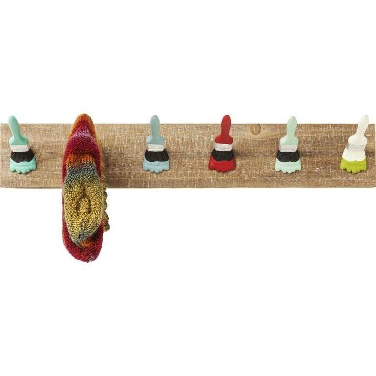 Garderobenleiste Paintbrush Party. Einzigartige Garderobe mit Pinsel als Haken. #haken #pinsel #stilvollwohnen #garderobe #garberobenleiste #leiste #Garderobe