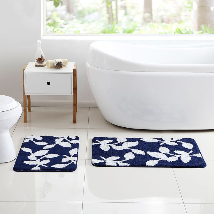 Navy Blue Bathroom Rug Set 28 Images Frieze 3 Bathroom Rug Set Navy Blue Walmart 18pc Bath