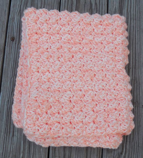 #Creamsicle #Crochet #Baby #Blanket #Gender #Neutral by GabbysQuilts #showergift #newbaby