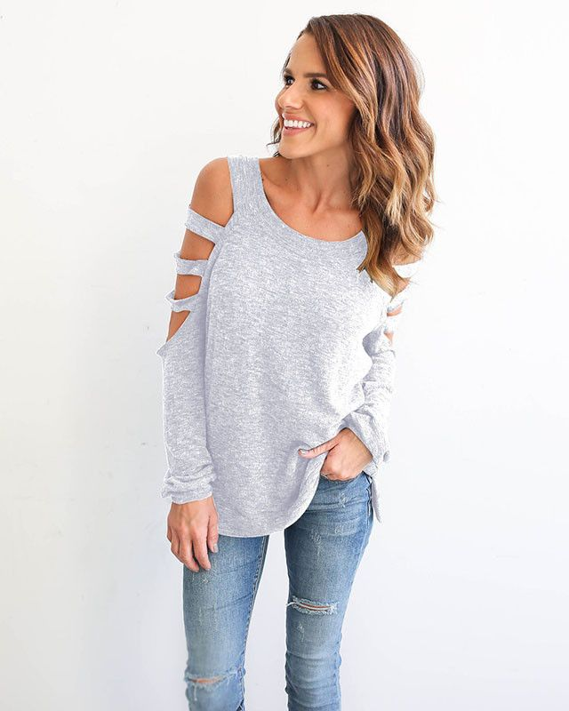 Brand Name: Herlova Collar: O-Neck Material: Acrylic,Polyester,Spandex Decoration: Hollow Out Fabric Type: Broadcloth Sleeve Style: Regular Pattern Type: Solid Clothing Length: Long Sleeve Length: Ful