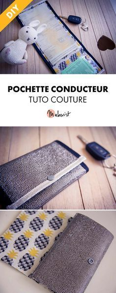 Tuto Couture Gratuit - Pochette Conducteur via Makerist.fr