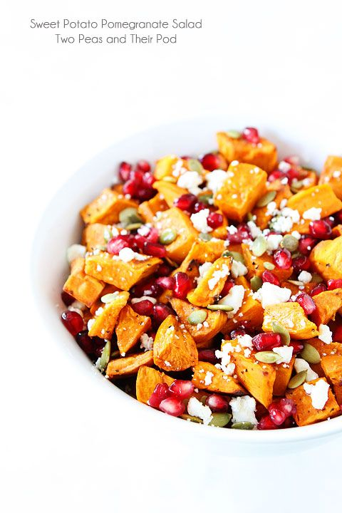 Sweet Potato Pomegranate Salad.
