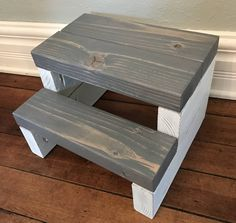 Personalized Rustic Segmented Kids Step Stool / Toddler Step Stool / Wooden Step Stool / Rustic Step Stool / Kitchen Step Stool / Step Stool by CarriageHouseCreek on Etsy https://www.etsy.com/listing/558197053/personalized-rustic-segmented-kids-step
