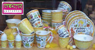 Blond Amsterdam mok Happy Easter, Geel in 3 maten - Blond Amsterdam in de SALE…