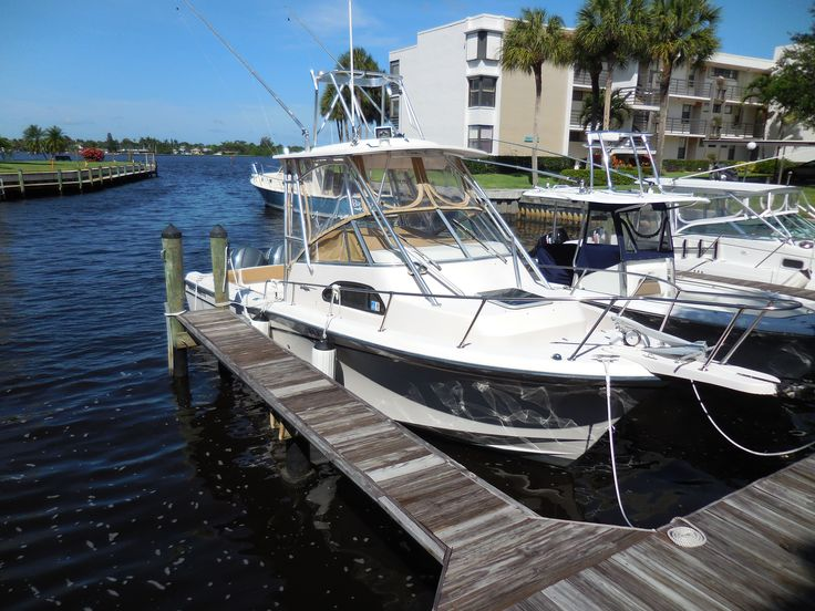 28' 2002 Grady-White... Asking $57,900... This boat is in great condition and ready to go! Rebuilt 225HP Power Heads (6/23/2014), new helm seats, new bolsters and cushions in aft cabin, new cockpit/helm cover, 3 sided cockpit enclosure, Garmin 740S GPS/plotter, (3) AGM Batteries, forward bilge pump, fortress anchor, lower units serviced in March 2014, seastar steering cylinder, Bottom is recently barrier coated and painted. Call Shane Hunt for additional details at 772-485-4875