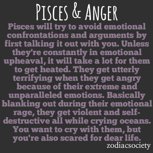 Pisces and anger