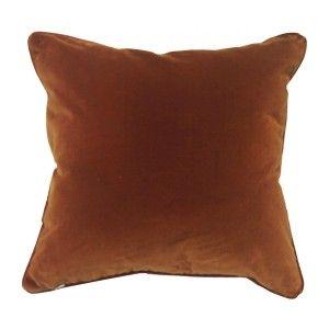 Paradise Velvet Cushion (Rust)