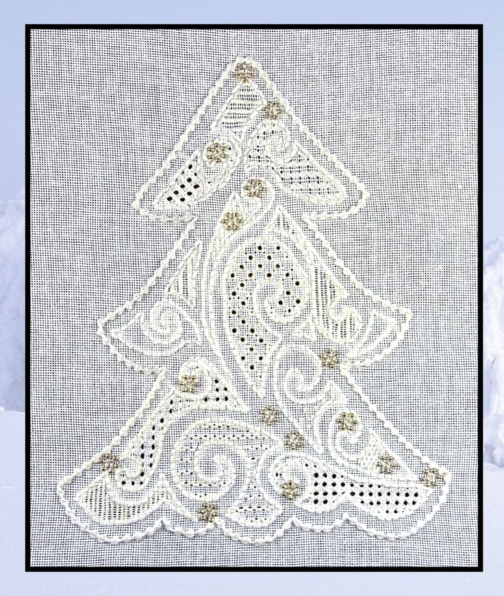 PR0026 'Winterland' - pulled thread and whitework embroidery combine! www.blackworkjourney.co.uk