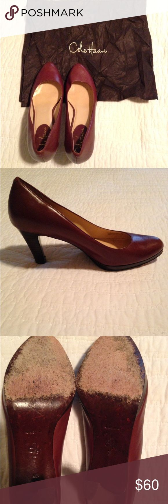 Cole Haan Nike Air Margot Pump Beautiful chestnut color. Very versatile for jeans or dresses. EUC. 9M. Dust bag included. Cole Haan Shoes Heels
