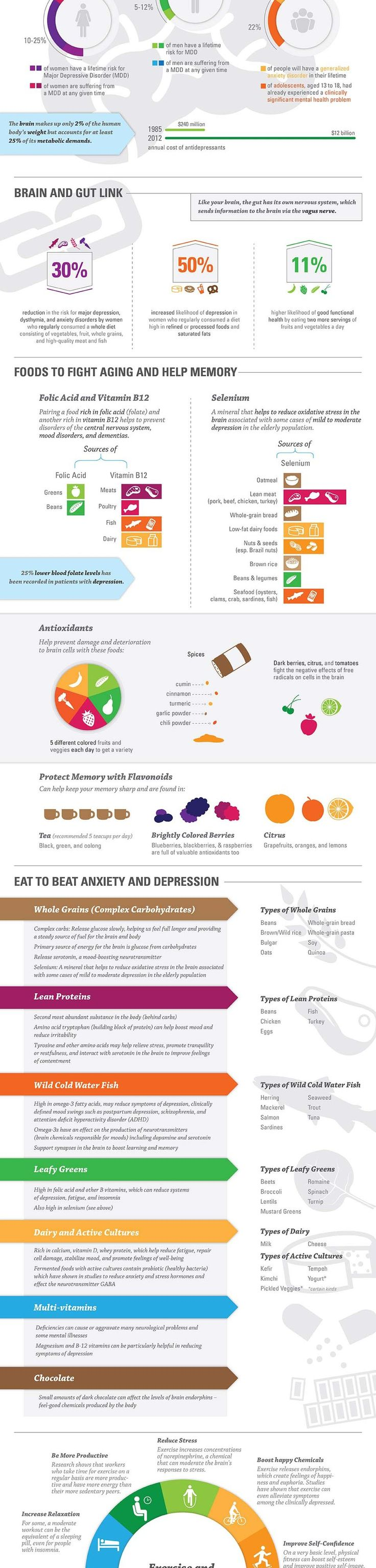 The Nutrition of Mental Health Infographic... from aboutdepressionfacts.com