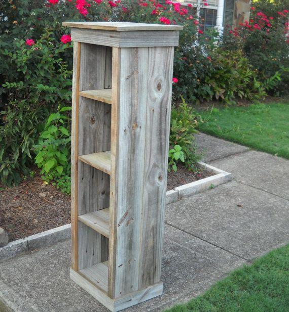 Reclaimed barnwood bookcase
