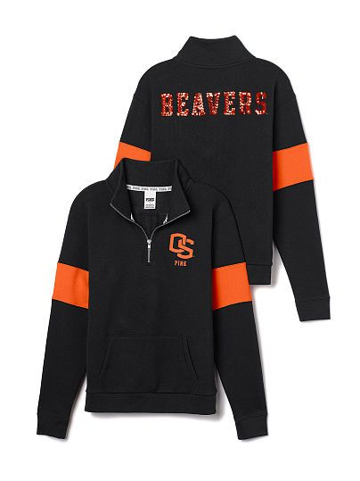 Oregon State University Bling Half-Zip Pullover PINK