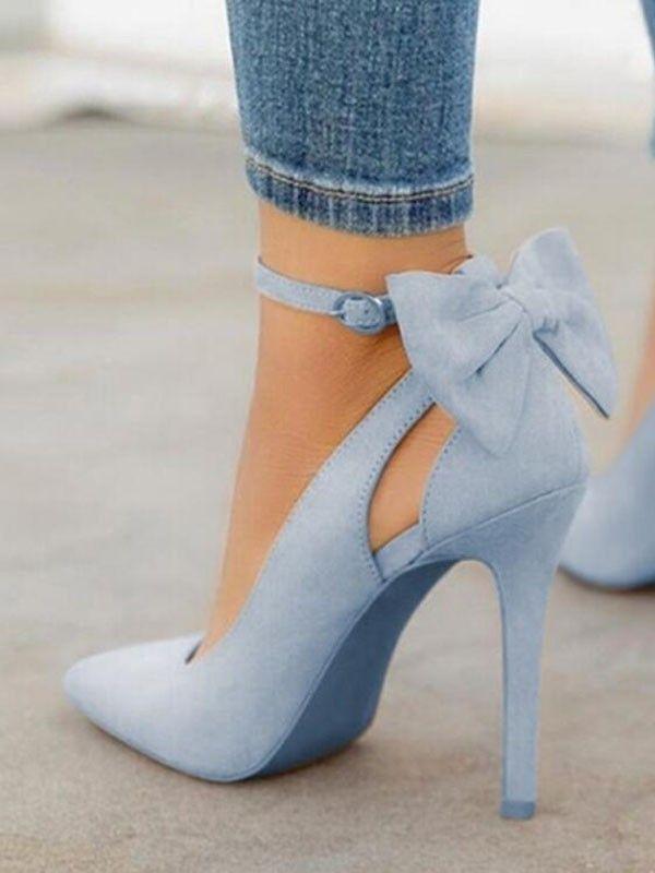 Light Blue High Heel Shoes
