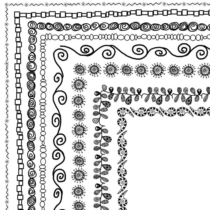"8 Doodle Frames 12""x12"" or 8.5"" x 11"" (A4) Clip Art Set, Digital Clip Art borders -- Buy 1 GET 1 FREE. $5.00, via Etsy."