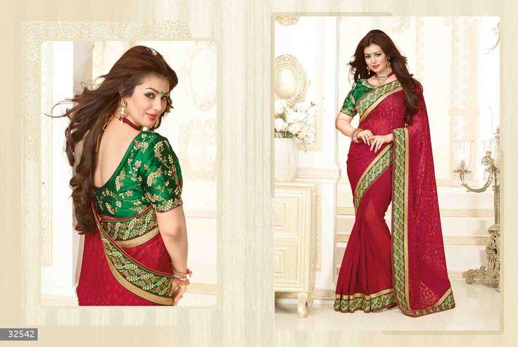 Ayesha Takia Designer Embroidered Brasso Saree with Raw Silk Blouse (Catalog - 5325)