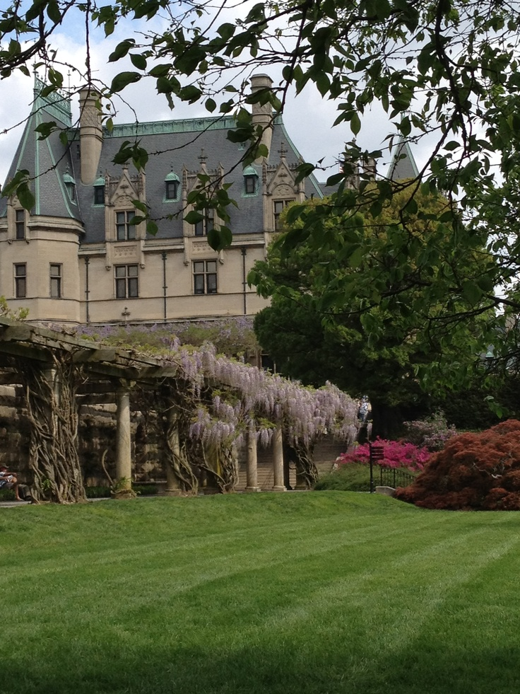 70 best the magic of biltmore estate images on pinterest biltmore wisteria covered walk looking up to biltmore house from wall garden path malvernweather Images