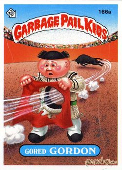 GARBAGE PAIL KIDS - Original Series 4 Card Collection — Gored Gordon