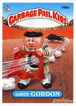 GARBAGE PAIL KIDS - Original Series 4 Card Collection — Gored Gordon