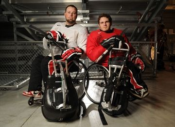 Sledge hockey pals a potent combo on the ice