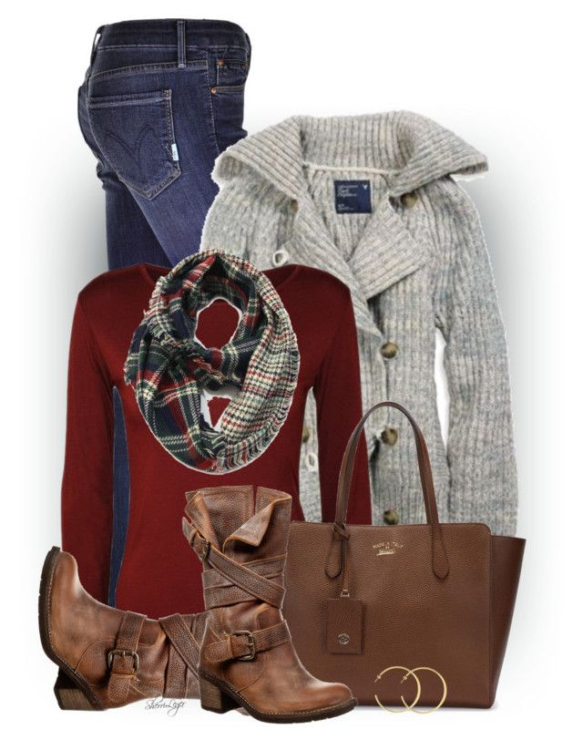 Untitled #2910 by sherri-leger on Polyvore featuring CO, American Eagle Outfitters, Mother, FELMINI, Gucci and Cozy by LuLu