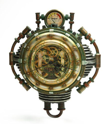 Colonel J Fizziwigs Steampunk Collection Wall Clock *** Find Out More About  The Great Product At The Image Link.