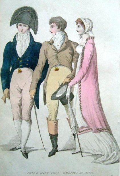 """""""Full and Half-Full Dresses for April"""", 1808."""