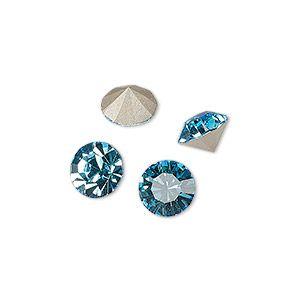 Шатон, Максима стекло, чешский хрусталь, прозрачный Аква bohemica, фольга назад, 8.16-8.41 мм граненый круглый, SS39. Продается в pkg из 4.