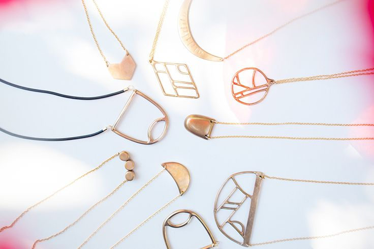 The Fall/Winter 2015 lookbook for Kate Miss's jewelry is so beautiful! || door sixteen