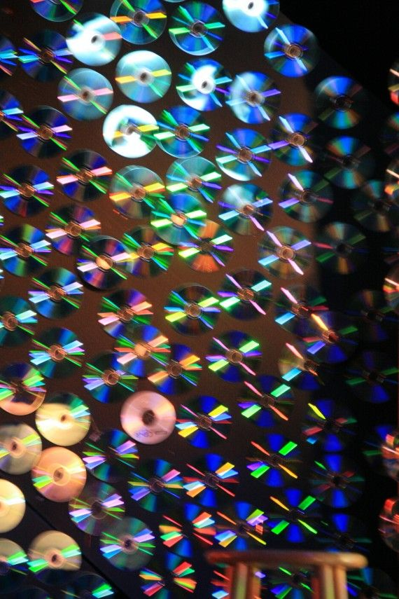 Pretty cool stage idea. Where are all those old CDs I've been throwing away?