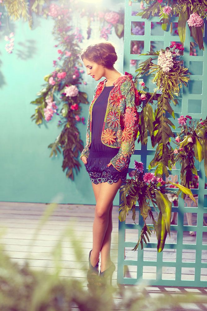 amazing textures: Outfits, Fashion, Style, Flowers Patterns, Colors, Flowers Girls, Jackets, Shorts Dresses, Floral