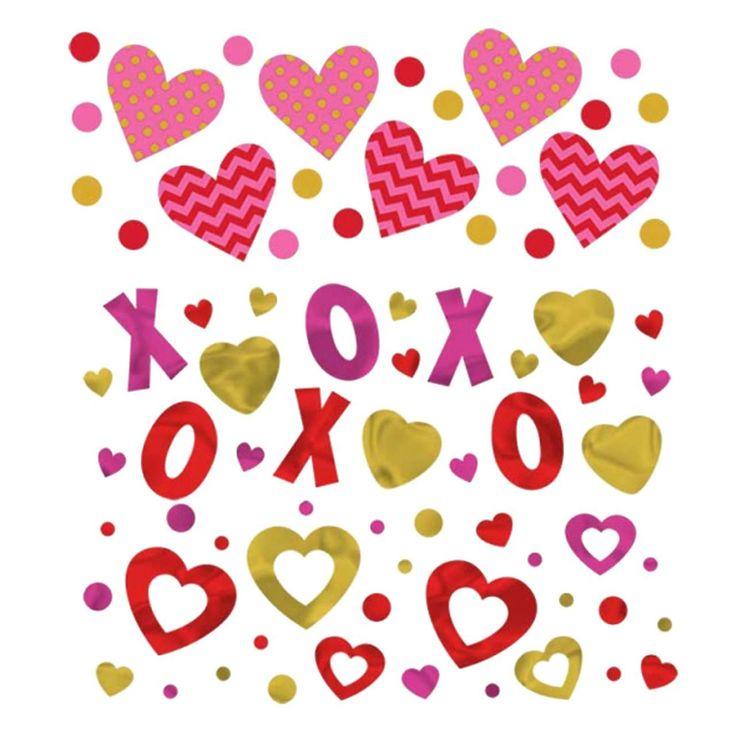 fancydressvip - Romantic Love Heart X O Confetti, £3.99 (http://www.fancydressvip.com/party/valentines-day/romantic-heart-confetti/)