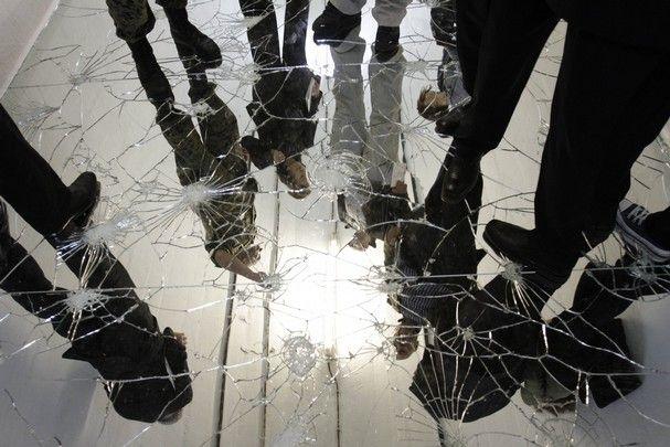 Best 25 Broken Mirror Floor Ideas On Pinterest Cd
