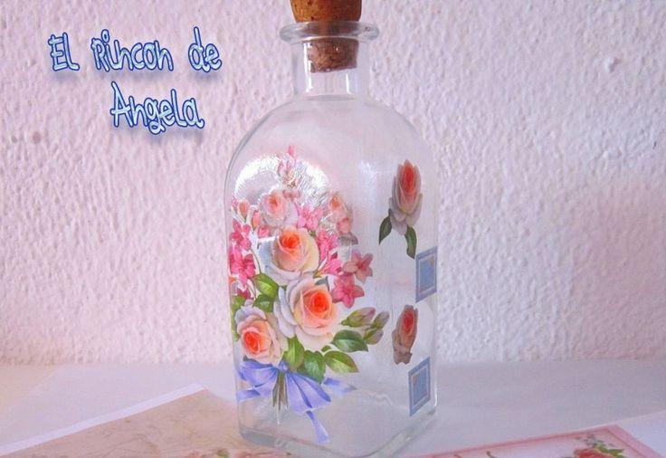 M s de 25 ideas incre bles sobre decorar botellas de - Ideas para decorar botellas ...