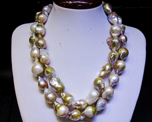 Long 80 cm Golden Fresh water Pearl necklace Bu 978 pearl necklace,fresh pearl necklace