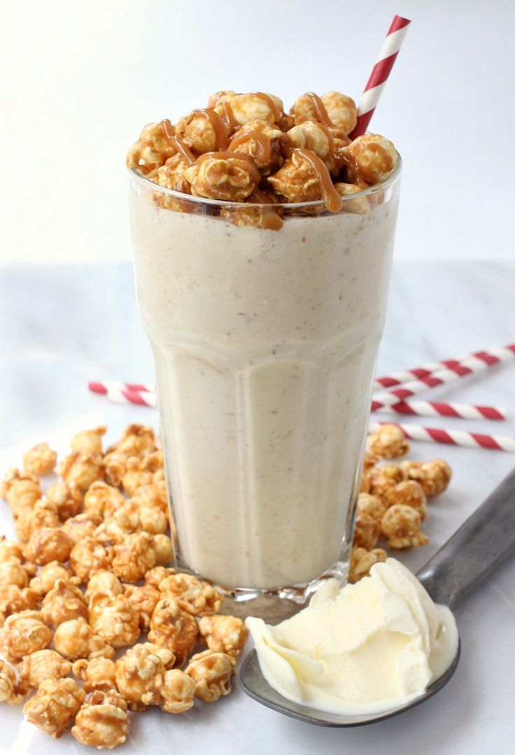 Bourbon caramel corn milkshake mantitlement sweet and