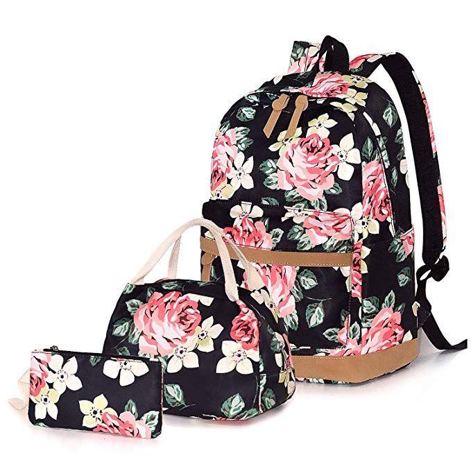 Schultasche Damen Schulrucksack Rucksack Kinder Tasche Mädchen Sport Rosa  Weiß
