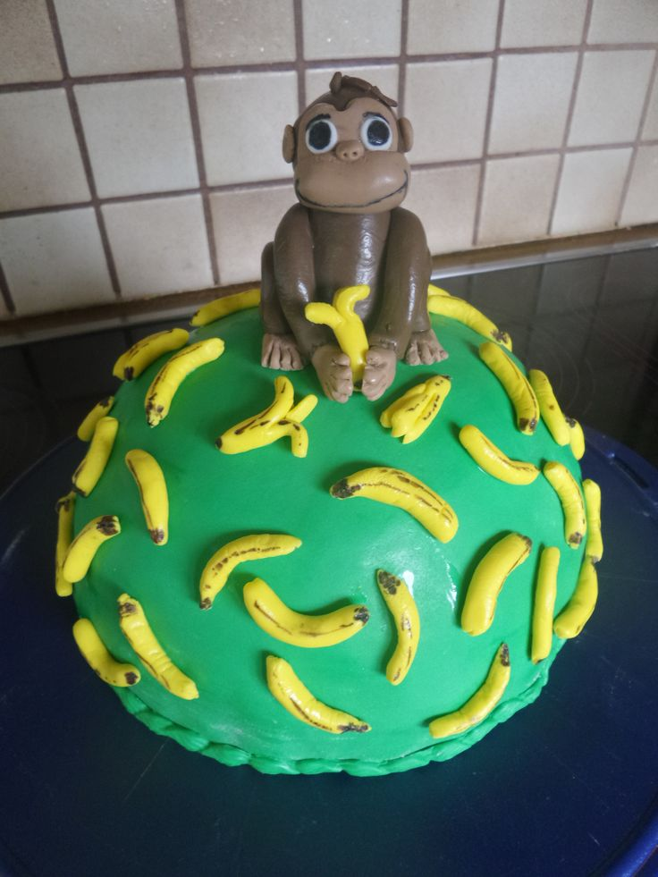 Affe-Bananen-Torte (Monkey George / coco) Fondant