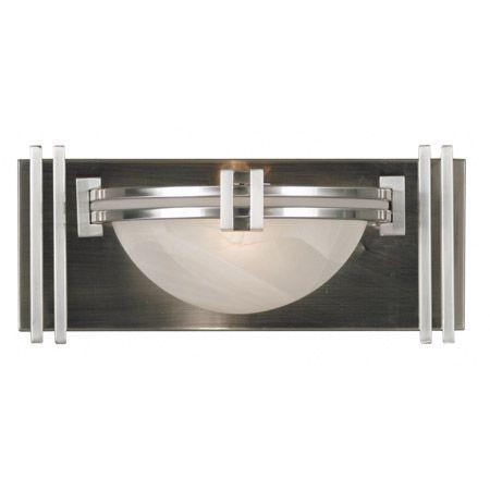 Beautiful Art Deco Lumen Wall Sconce Kenroy Home 10370BS $108.00. Bathroom Sconces Light ...