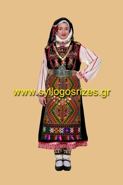 Traditional costumes of Greece παραδοσιακή φορεσιά Χιονάδων Έβρου - Σύλλογος Ρίζες
