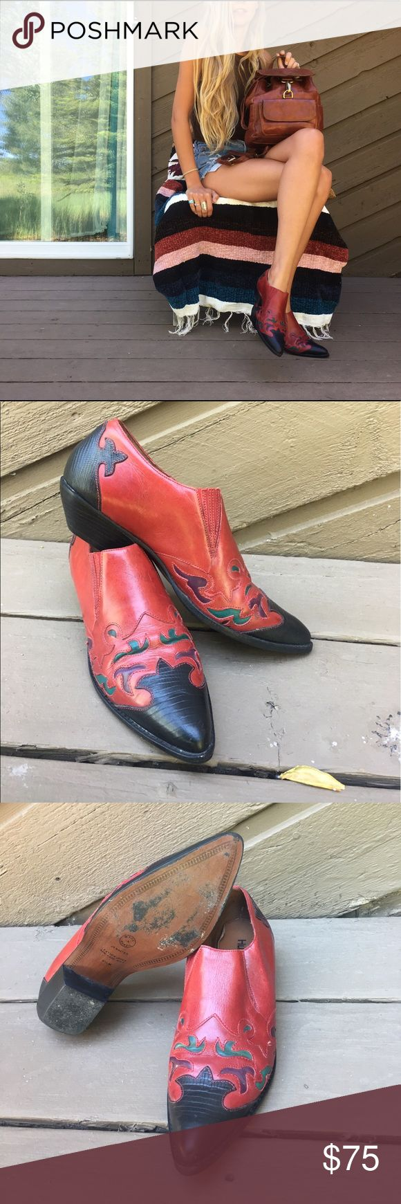 Hunt Club cowboy booties These vintage Hunt Club booties are perfect with some cut off shorts or your favorite pair of jeans! They have hardly been worn, maybe once or twice. They fit like a 7.5 or 8 Hunt Club Shoes Ankle Boots & Booties