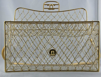 RARE Chanel Bag Vintage Gold Beaded
