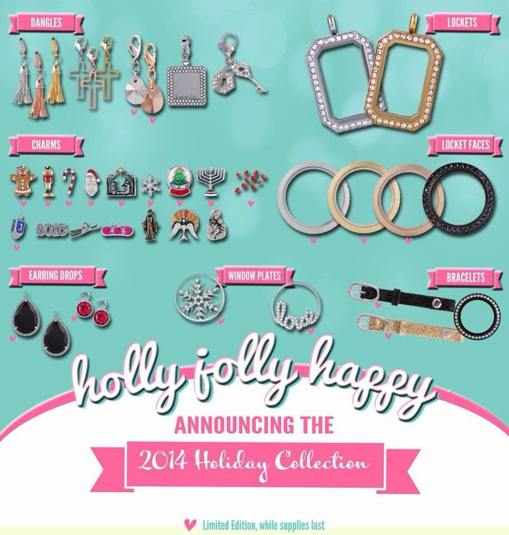 Holiday Collection 2014! Shop Online here http://www.hellociindycharms.origamiowl.com/