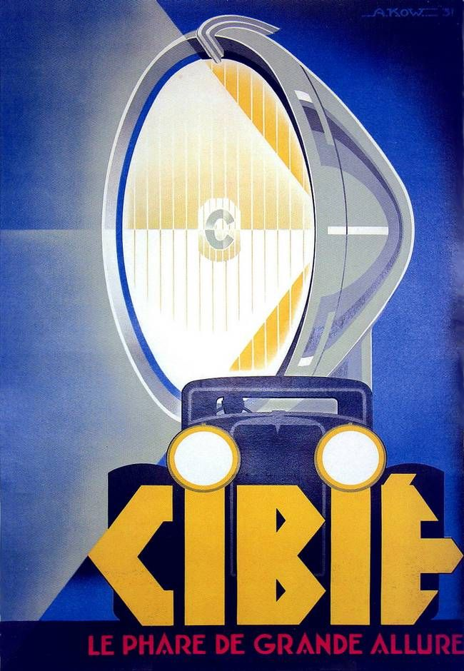 * Cibié 1930 affiche par Alex Kow ( + 1930)