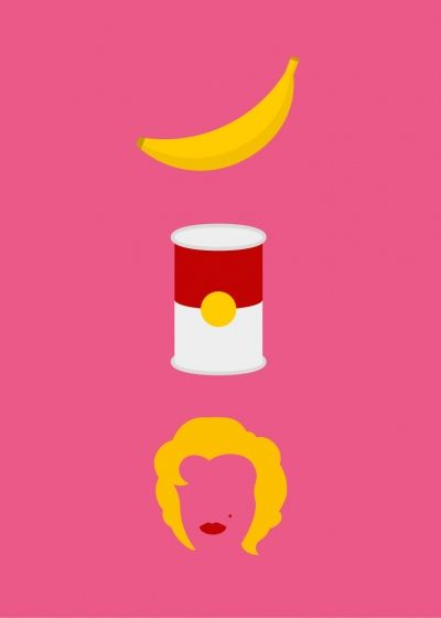 Minimalistic Posters Of Famous Painters For Your Guessing PleasureMinimalist Posters, Picture-Black Posters, The Artists, Guess, Illustration, Graphics Design, Andywarhol, Icons Painters, Andy Warhol