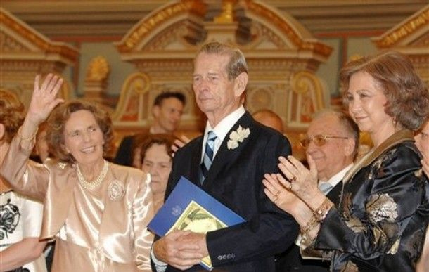 King Michael, Queen Anne of Romania & Queen Sophia of Spain, 10 June 2008, Buchares