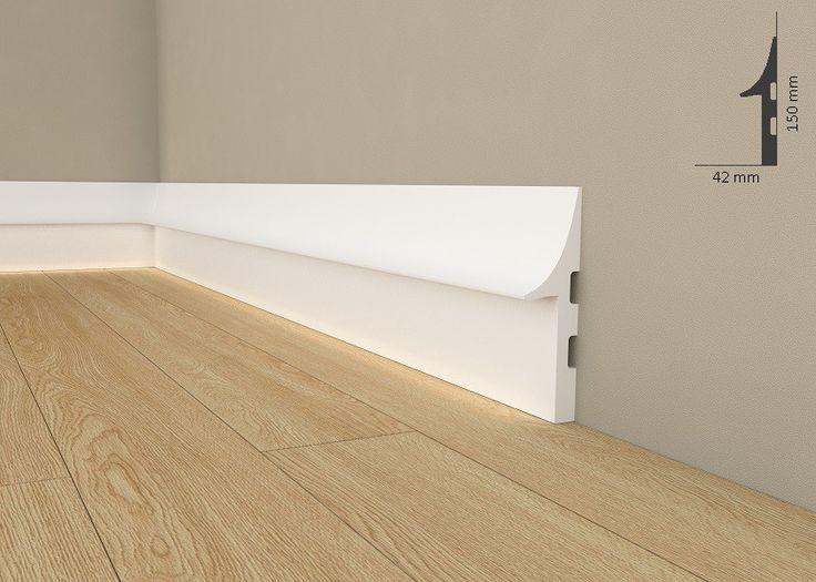 """Licht Fußleiste """"Wiesemann QL008"""" - Sockelleiste für indirekte Beleuchtung ( aus hochfestem Polyurethan)"""