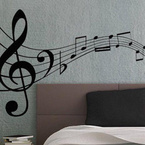 music notes 3 uber decals wall decal vinyl decor art. Black Bedroom Furniture Sets. Home Design Ideas